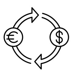 money convert icon outline style vector image