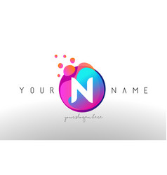 n dots letter logo with bubbles a letter design vector image