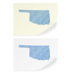 oklahoma scribble map vector image