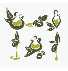 olive oil symbols vector image