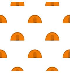 Orange tourist tent pattern flat vector