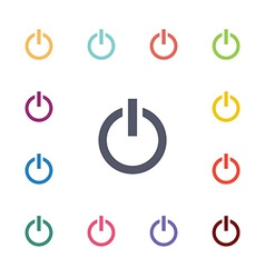 power flat icons set vector image