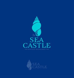 sea castle logo vector image