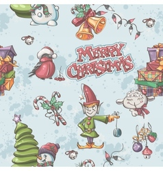 seamless texture to christmas and new year vector image