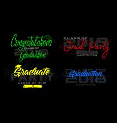set graduation label text for graduation vector image
