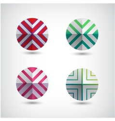 Set of abstract round decorated icons vector