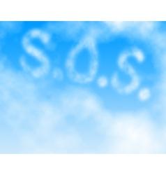 SOS skywrite vector