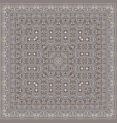 Square pattern for the silk scarf vector
