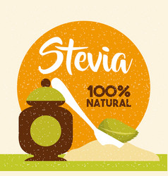 stevia natural sweetener vector image