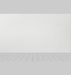 Studio room with wooden floor vector