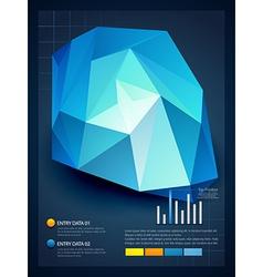 stylish infographic design vector image