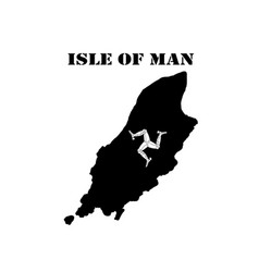 symbol of isle of man and map vector image