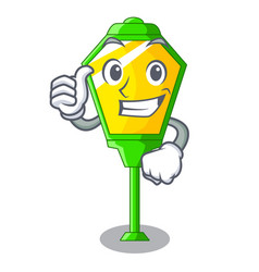 thumbs up lamp post in isolated on mascot vector image