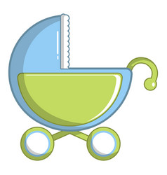 toy baby carriage icon cartoon style vector image
