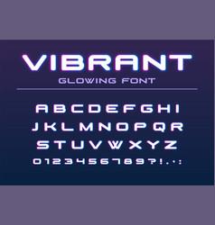 vibrant color glowing font future futuristic vector image