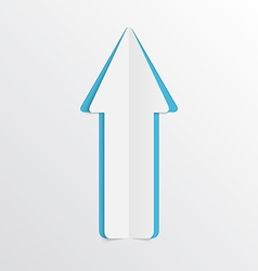 White paper arrow vector image