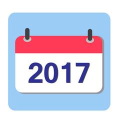 flat calendar icon 2017 new year 2017 vector image