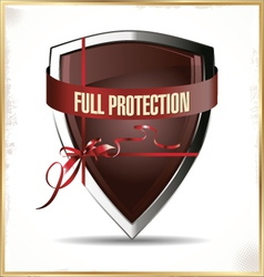 Full protected shield vector image