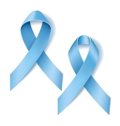 Prostate cancer ribbon awareness vector image