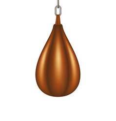 Punching bag for boxing in brown design vector