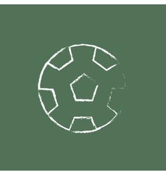Soccer ball icon drawn in chalk vector image vector image