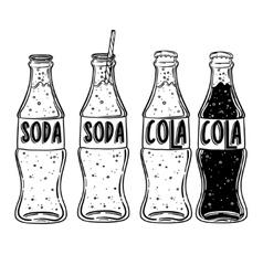 soda drawing Hand drawn soda vector image