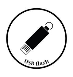 USB flash icon vector image