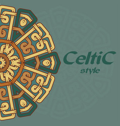 beautiful postcard with celtic pattern vector image vector image