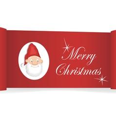 Christmas card banner vector image