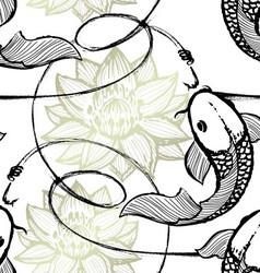 Fishing seamless pattern vector image