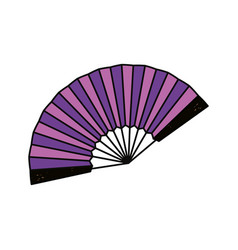 hand fan isolated graphic vector image