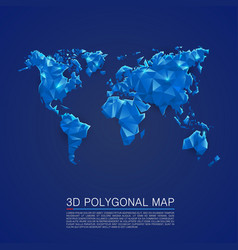 Map 3d polygon art cover vector