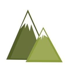 mountains ice natural icon vector image