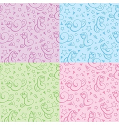 patterns with snakes vector image
