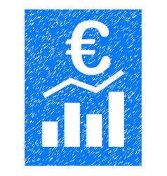 euro sale report grunge icon vector image