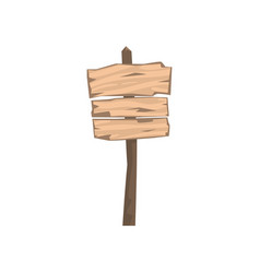 old wooden blank warning sign board vector image