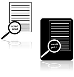Small print vector image