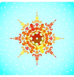 snowflakes for Christmas design vector image vector image