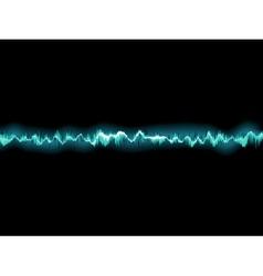 Sound waves oscillating on black EPS 10 vector image vector image