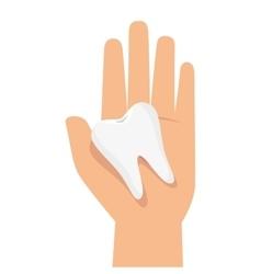 Teeth dental care isolated icon vector