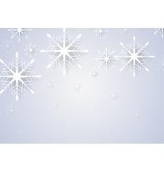 Abstract snowflakes New Year greeting card vector image