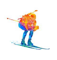 biathlon abstract sport vector image vector image