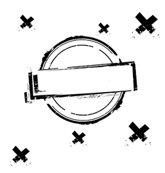 Black rubber stamp on white vector image vector image