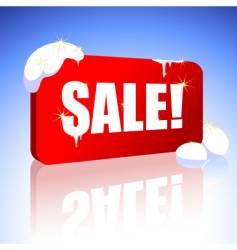 Christmas sale sign vector image