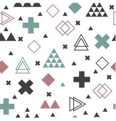 geometric scandinavian seamless pattern textile vector image vector image