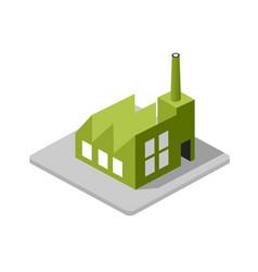 industrial factory decorative icon vector image