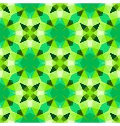 Multicolor geometric pattern in bright green vector image