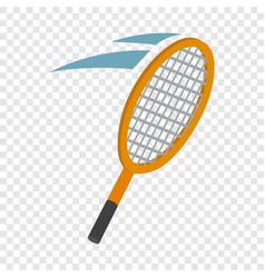 tennis racket isometric icon vector image vector image