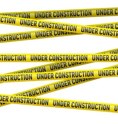 Yellow under construction danger tape vector image