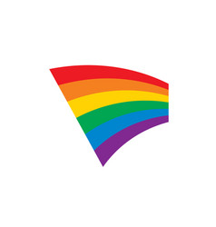 a rainbow flag vector image